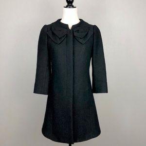 Anthropologie Elevenses Black Wool Blend Coat, 4